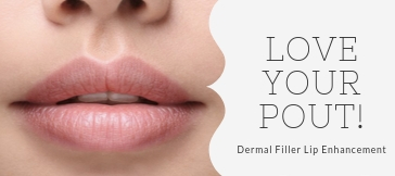 Dermal filler lip enhancement